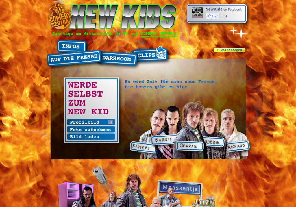 New Kids Microsite